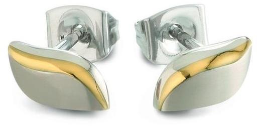 Boccia Titanium Půvabné pozlacené titanové náušnice 05044-02