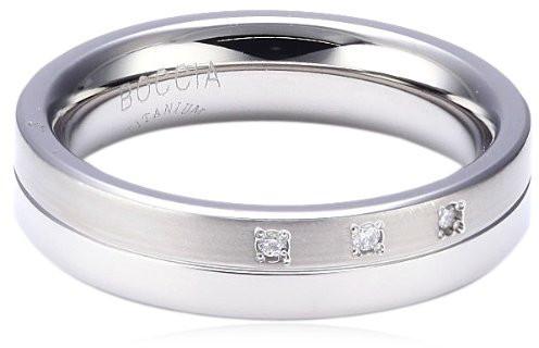 Boccia Titanium Titanový snubní prsten s diamanty 0129-03 49 mm
