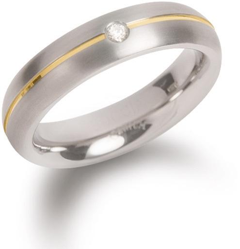 Boccia Titanium Titanový snubní prsten s diamantem 0130-06 48 mm