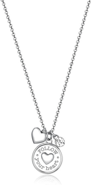 Brosway Oceľový náhrdelník Srdce Chakra BHKL03EN (retiazka, prívesky)