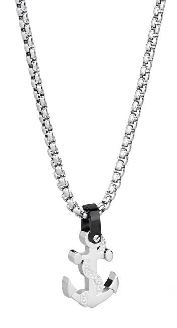Brosway Pánsky oceľový náhrdelník s kotvou Sign BGN06