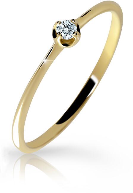 Cutie Diamonds Jemný prsten ze žlutého zlata s briliantem DZ6729-2931-00-X-1 51 mm