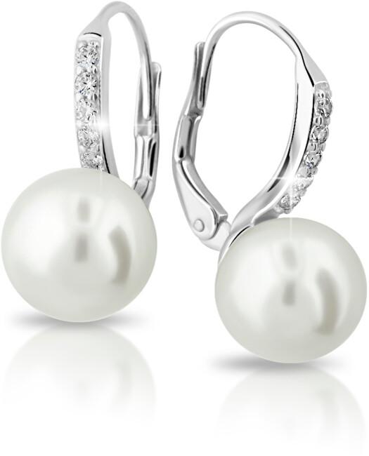 Cutie Jewellery Exkluzivní náušnice z bílého zlata s pravými perlami a zirkony Z6432-3122-50-10-X-2