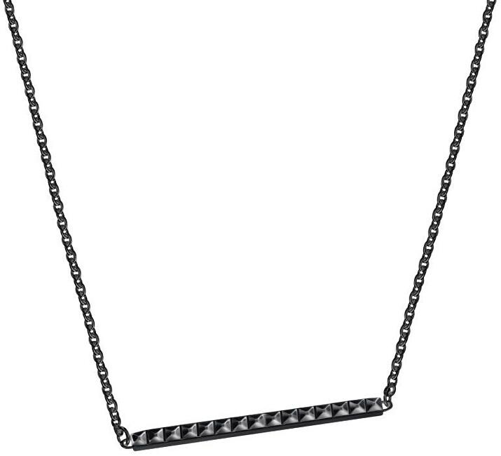Calvin Klein Čierny oceľový náhrdelník Edge KJ3CBP100200