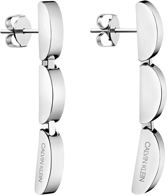 Calvin Klein Dlhé oceľové náušnice Wavy KJAYME000200