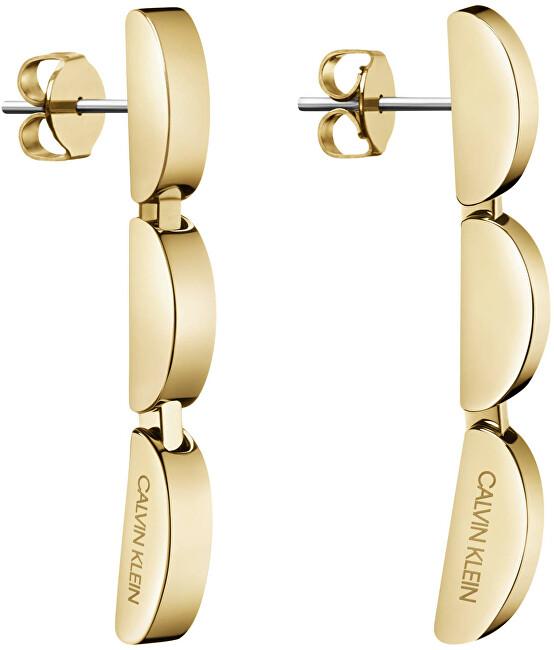Calvin Klein Dlhé oceľové náušnice Wavy KJAYJE100200