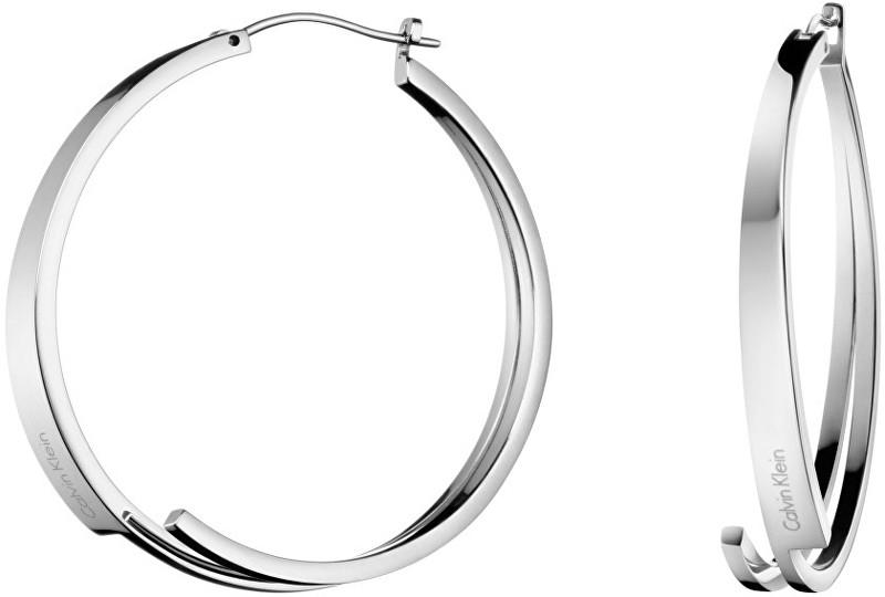 Calvin Klein Oceľové náušnice kruhy Beyond KJ3UME000100