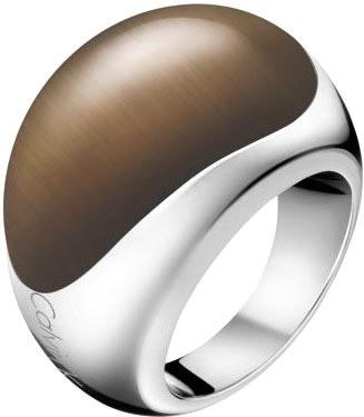 Levně Calvin Klein Ocelový prsten s kamenem Ellipse KJ3QCR0201 55 mm