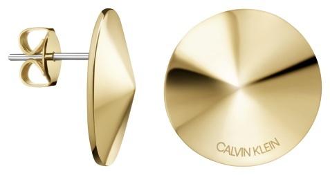 Calvin Klein Pozlátené oceľové náušnice Spinner KJBAJE100200