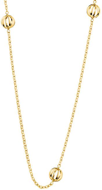 Calvin Klein Pozlátený oceľový náhrdelník Show KJ4XJN100100