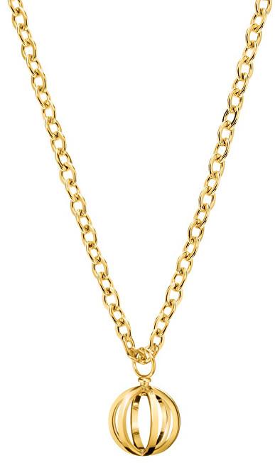 Calvin Klein Pozlátený oceľový náhrdelník Show KJ4XJN100300