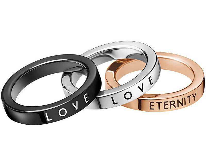 Calvin Klein Sada prsteňov 3v1 Hook KJ06JR3901 52 mm