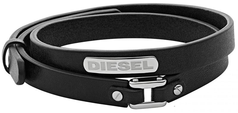 Diesel Dvojitý kožený náramok DX0971040