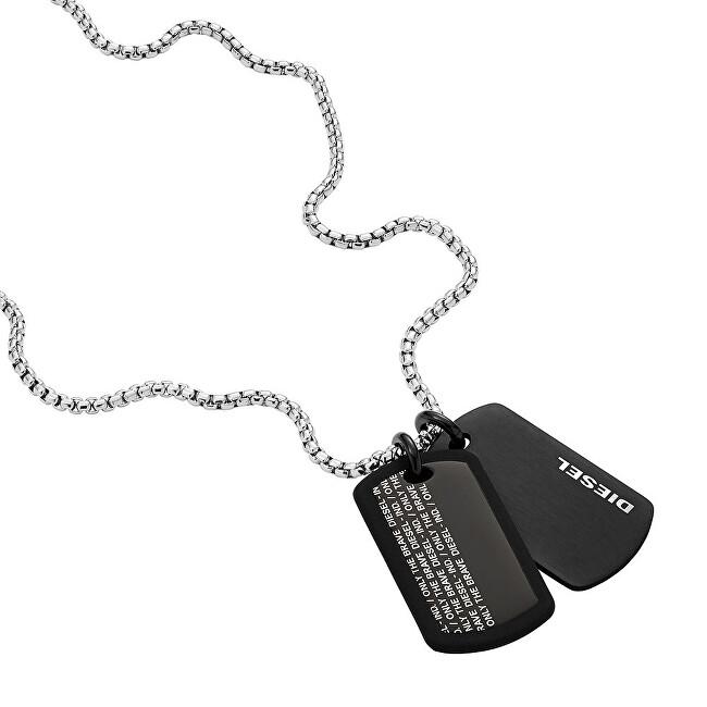 Diesel Pánsky oceľový náhrdelník psie známky DX1287040