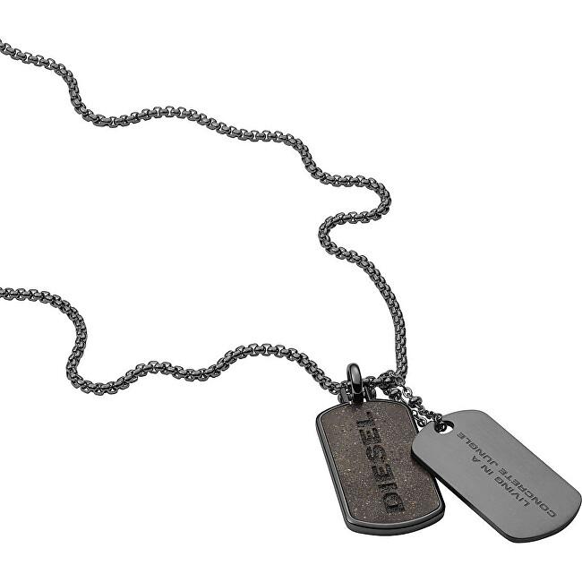 Diesel Pánsky oceľový náhrdelník psie známky DX1257040