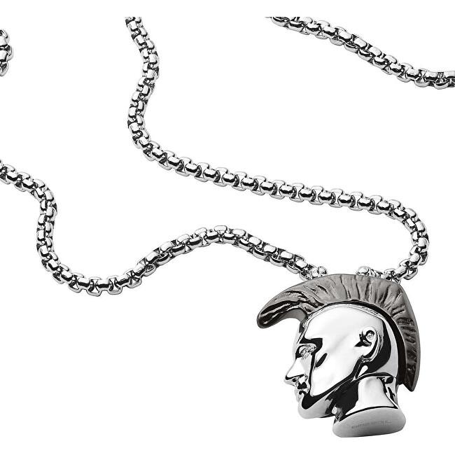 Diesel Štýlový pánsky náhrdelník Mohykán DX1253040