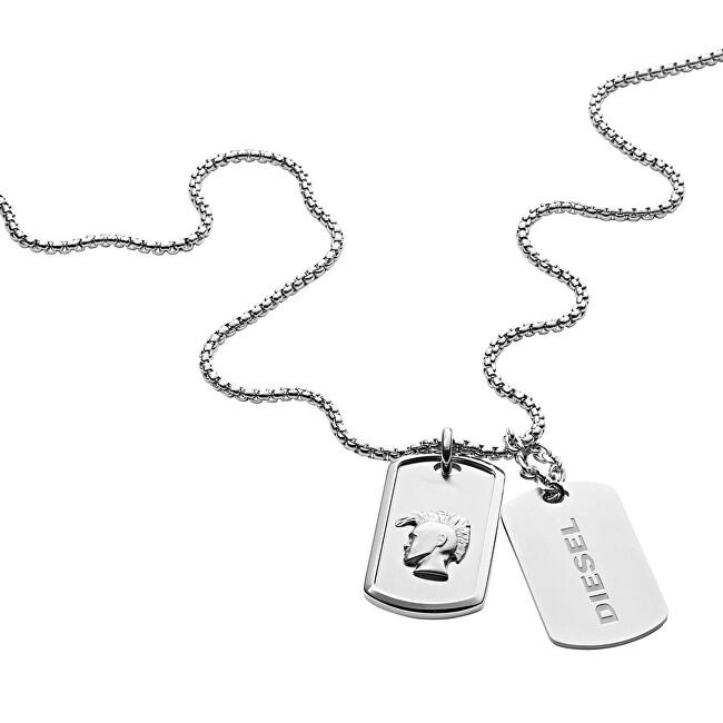 Diesel Štýlový pánsky náhrdelník s príveskami DX1210040