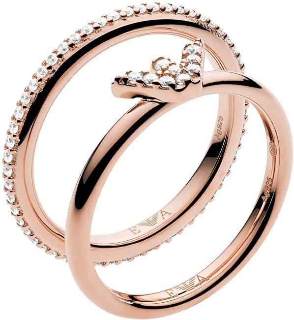 Emporio Armani Moderní dvojitý ocelový prsten EG3462221 59 mm