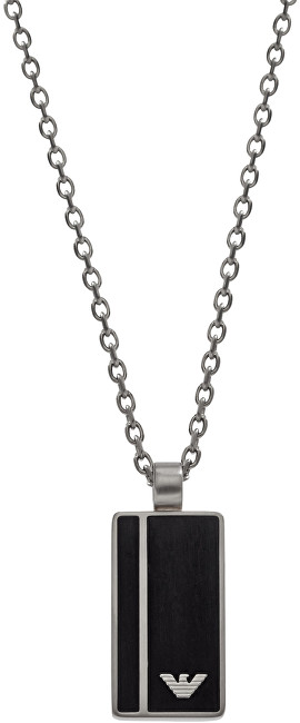 Emporio Armani Pánsky oceľový náhrdelník s príveskom EGS2031040