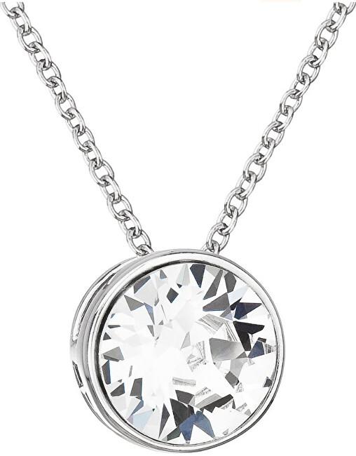 Evolution Group Strieborný náhrdelník s kryštálom Swarovski 32069.1