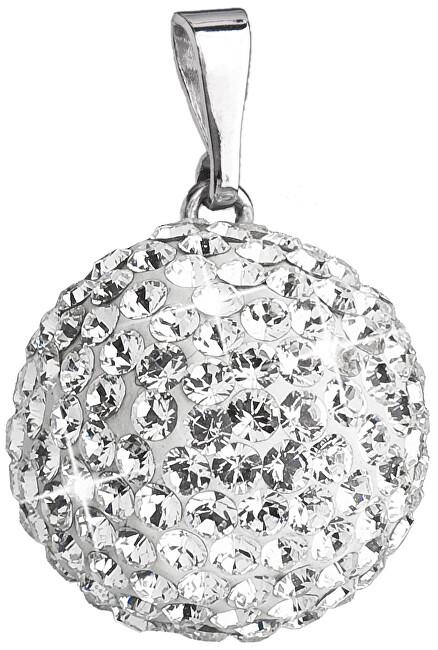 Evolution Group Stříbrný přívěsek s krystaly Swarovski 34081.1