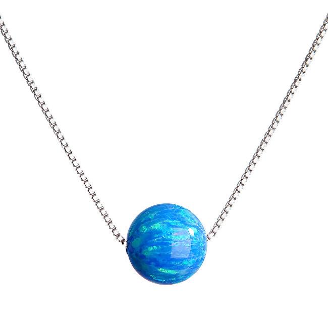 Evolution Group Třpytivý náhrdelník se syntetickým opálem 12044.3