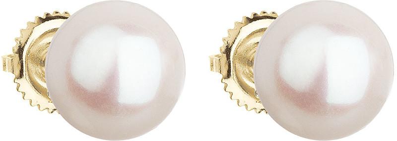 Evolution Group Zlaté náušnice s pravými perlami Pavona 921005.1