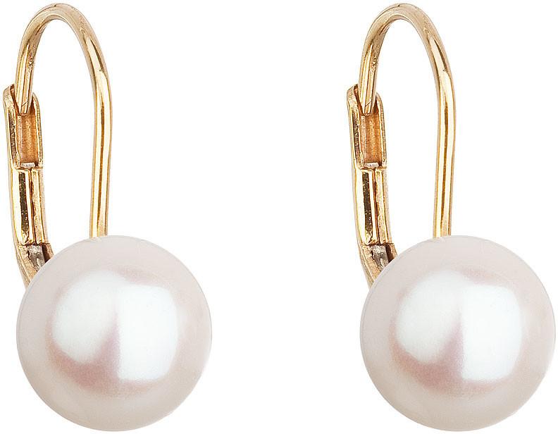 Evolution Group Zlaté visiace náušnice s pravými perlami Pavona 921009.1