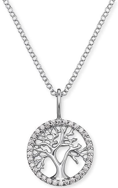 Engelsrufer Stříbrný náhrdelník Strom života se zirkony ERN-LILTREE-ZI