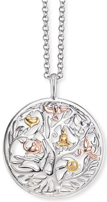 Engelsrufer Stříbrný tricolor náhrdelník Strom života ERN-TREE-TRICO
