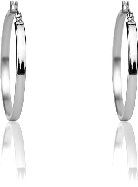 Emily Westwood Oceľové náušnice kruhy WE1020S