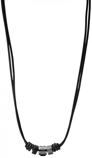 Fossil Pánsky kožený náhrdelník JF00501797