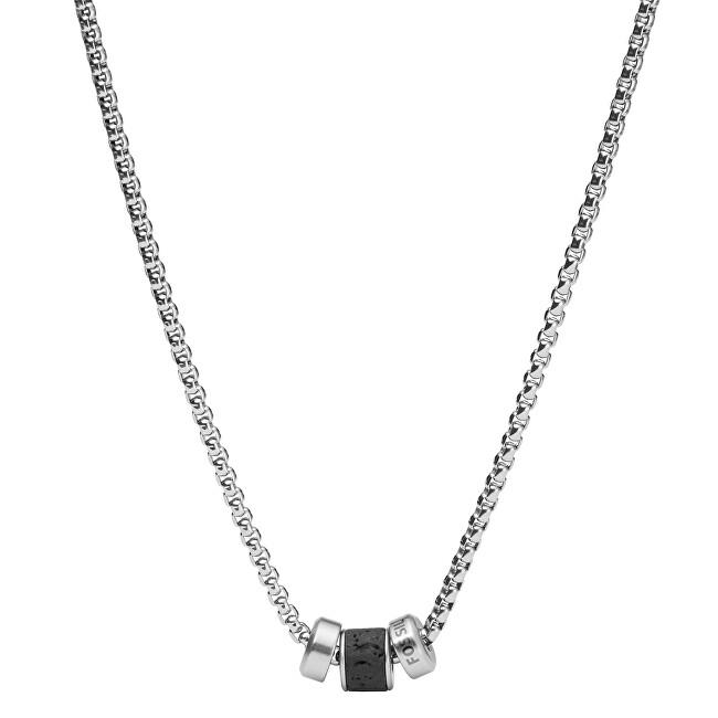 Fossil Pánsky oceľový náhrdelník Mens Dress JF03689040