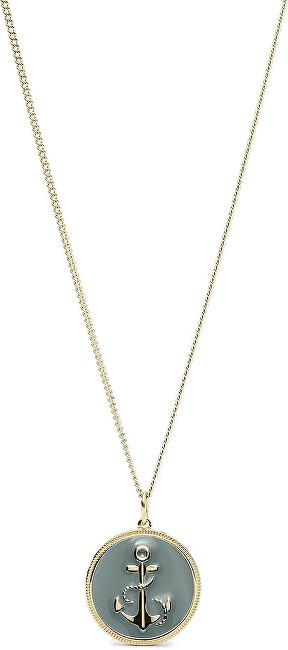 Fossil Pozlátený náhrdelník s kotvou JF03296710