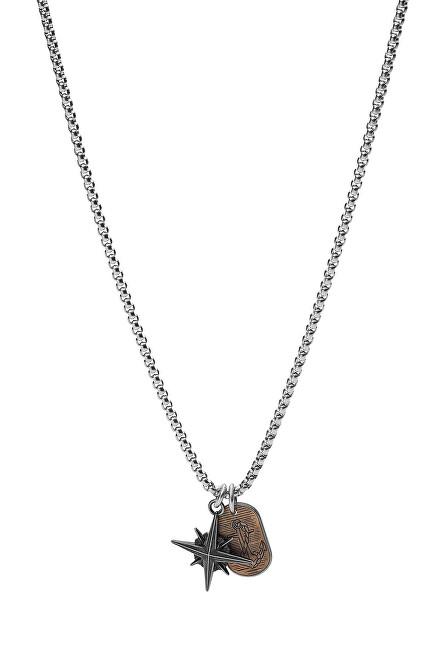 Fossil Slušivý pánsky náhrdelník Vintage Casual JF03624998
