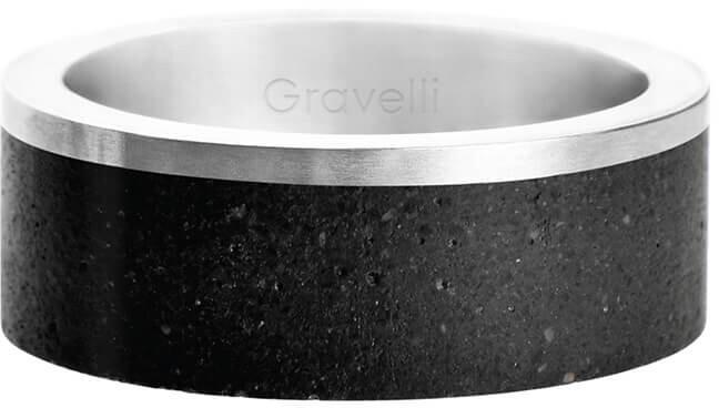 Gravelli Betónový prsteň Edge oceľová / atracitová GJRUSSA002 56 mm