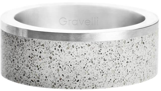 Gravelli Betónový prsteň Edge oceľová / sivá GJRUSSG002 56 mm