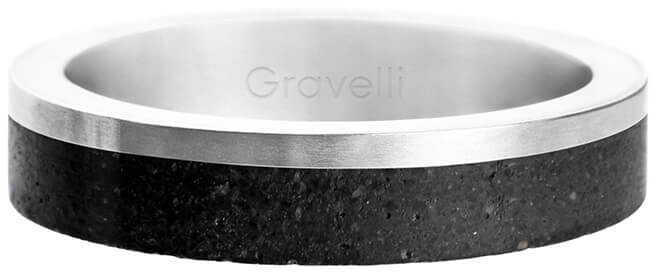 Gravelli Betónový prsteň Edge Slim oceľová / antracitová GJRUSSA0021 56 mm
