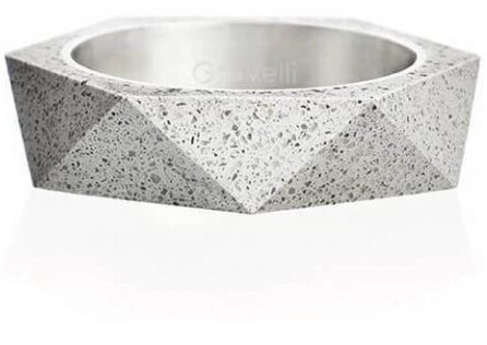 Gravelli Betónový prsteň šedý Cubist GJRUSSG005 56 mm