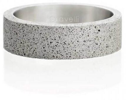 Gravelli Betónový prsteň šedý Simple GJRUSSG001 56 mm