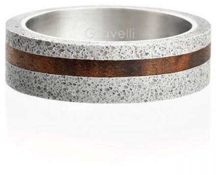 Gravelli Betónový prsteň šedý Simple Wood GJRUWOG001 56 mm