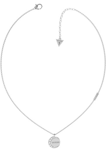 Guess Jemný ocelový náhrdelník s krystaly Moon Phases JUBN01189JWRH