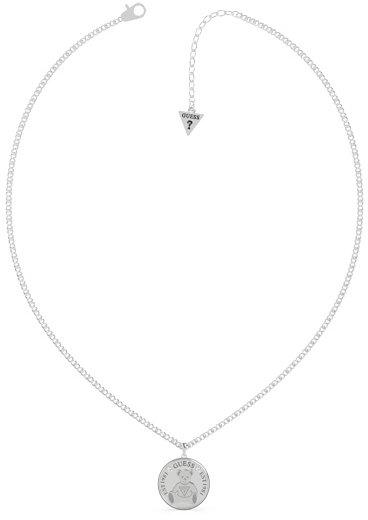 Guess Jemný oceľový náhrdelník Vintage Bear UBN70023