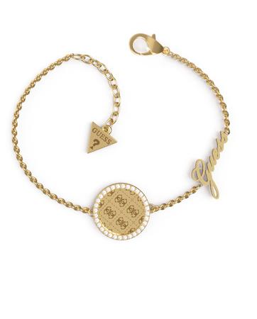 Guess Luxusní pozlacený náramek s krystaly Round Harmony JUBB01166JWYGS-S