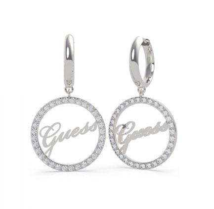 Guess Luxusné oceľové náušnice kruhy All Around You UBE20143