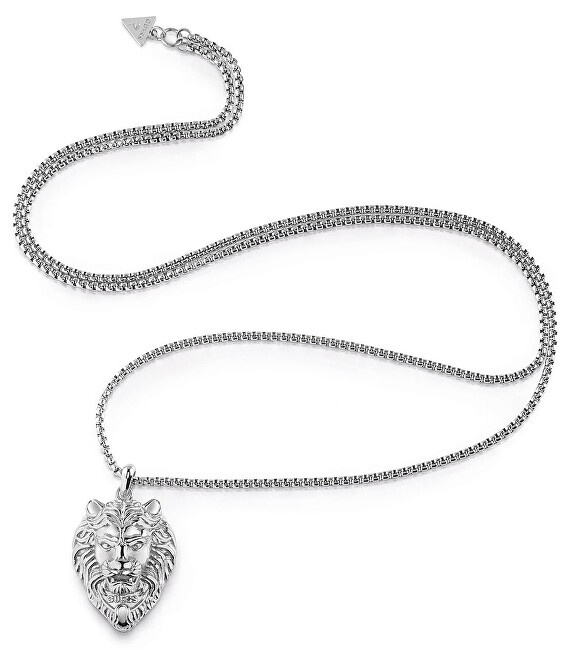 Guess Oceľový náhrdelník s príveskom leva UMN78000