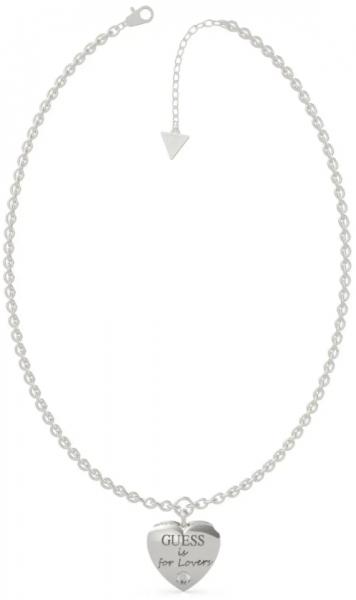 Guess Oceľový náhrdelník s príveskom srdca Guess is for Lovers UBN70025