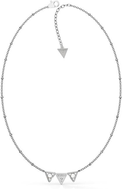 Guess Oceľový náhrdelník s príveskom UBN79006