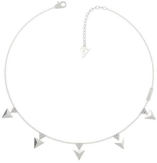 Guess Oceľový náhrdelník s príveskami UBN70053