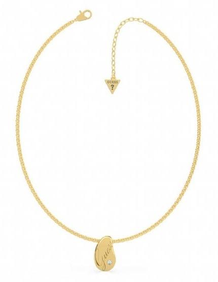 Guess Pozlacený náhrdelník s přívěskem UBN79097